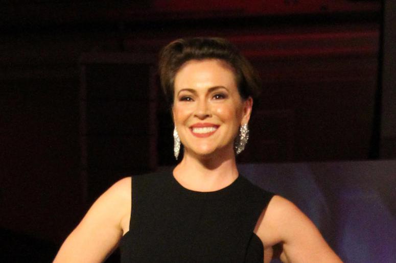 Alyssa Milano, Smile, Black Dress