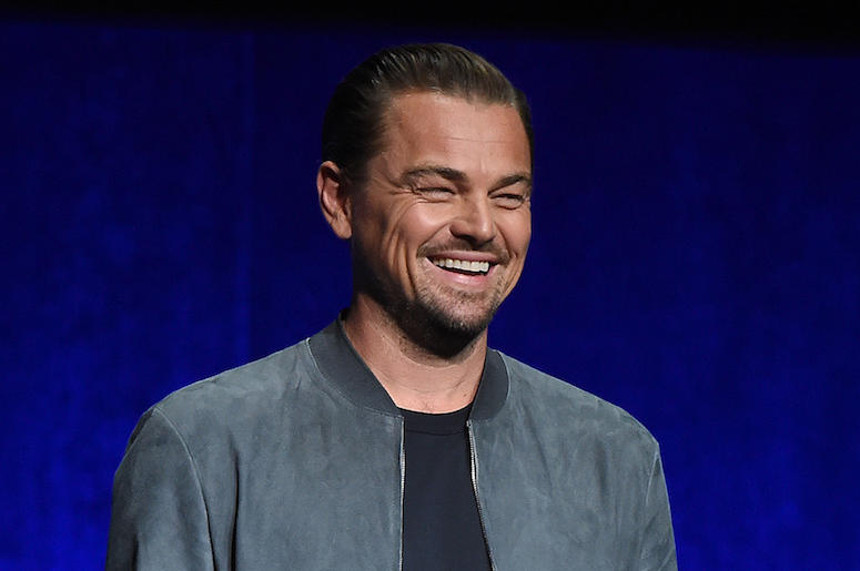 Leonardo DiCaprio, Stage, CinemaCon, Laughing, 2018