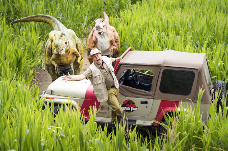 Tom Pearcy, Jurassic Park, Dinosuars, Maze, Costume, Jeep