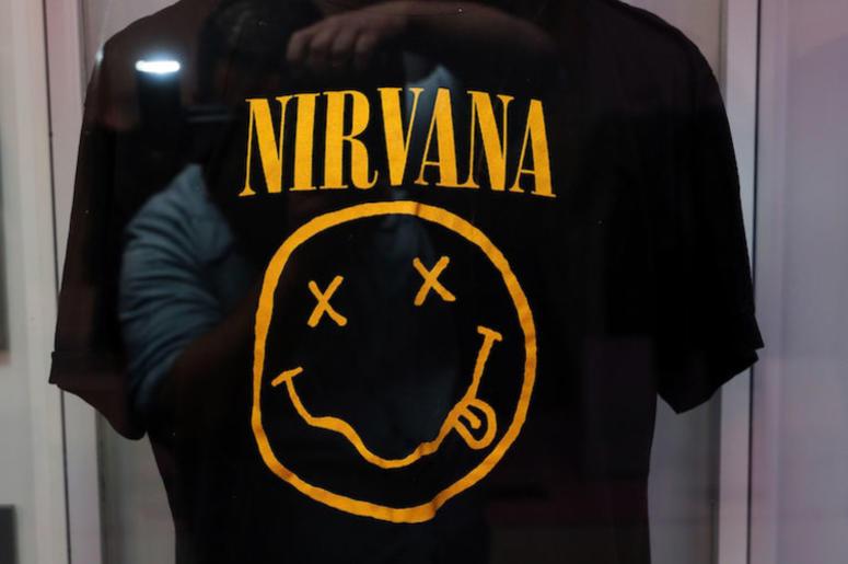 Kurt Cobain, Nirvana, Shirt, Smiley Face, Growing Up Kurt, Exhibit, 2018