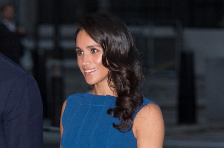 Meghan Markle, Blue Dress, Smile