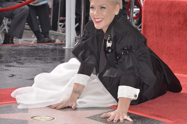 P!nk, Hollywood Walk of Fame, Star, Smile, 2019