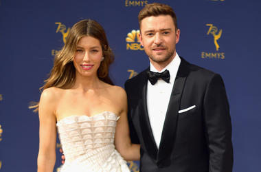 LOS ANGELES, CA - SEPTEMBER 17: Jessica Biel (L) and Justin Timberlake attend the 70th Emmy Awards at Microsoft Theater on September 17, 2018 in Los Angeles, California. (Photo by Matt Winkelmeyer/Getty Images)