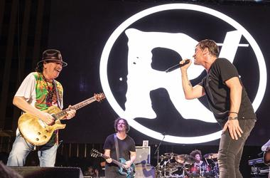 Carlos Santana and Rob Thomas at Bite of Las Vegas 2019 Food and Music Festival (Photo credit: MIX 94.1)
