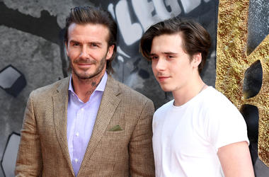 5/10/2017 - David Beckham and Brooklyn Beckham attending the European premiere of King Arthur at Cineworld Empire, Leicester Square, London. Photo credit should read: Doug Peters/EMPICS Entertainment (Photo by PA Images/Sipa USA)