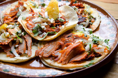 Traditional mexican food, tacos al pastor, Traditional mexican tacos al pastor