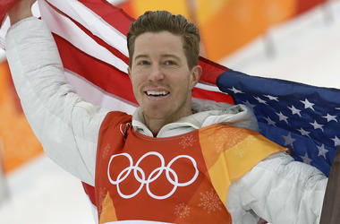In this Feb. 14, 2018, file photo, gold medal winner Shaun White celebrates after the men's halfpipe finals at the 2018 Winter Olympics in Pyeongchang, South Korea. Three-time Olympic champion snowboarder Shaun White has apologized for a Halloween costume