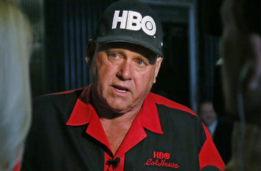 In this June 13, 2016, file photo, Dennis Hof, owner of the Moonlite BunnyRanch, a legal brothel near Carson City, Nevada, is pictured during an interview in Oklahoma City. Hof, who died last month after fashioning himself as a Donald Trump-style Republic