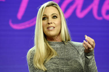 """Kate Gosselin, a cast member in the TLC series """"Kate Plus Date,"""" takes part in a panel discussion on the show during the 2019 Winter Television Critics Association Press Tour, Tuesday, Feb. 12, 2019, in Pasadena, Calif. (Photo by Chris Pizzello/Invision/A"""