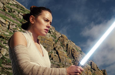 """This image released by Lucasfilm shows Daisy Ridley as Rey in """"Star Wars: The Last Jedi."""" (Lucasfilm via AP)"""