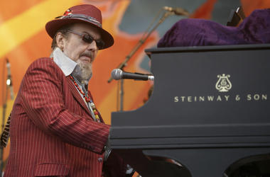 In this April 26, 2008 file photo, Dr. John performs during the 2008 New Orleans Jazz & Heritage Festival in New Orleans. (Photo credit: AP Photo/Dave Martin, File)