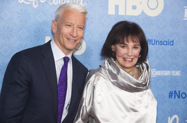 Anderson Cooper and Gloria Vanderbilt