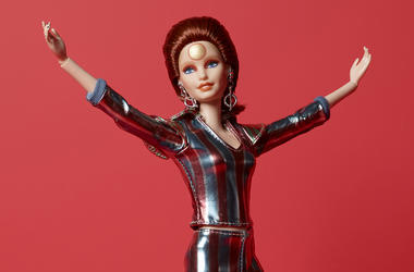 """This image released by Mattel shows a Ziggy Stardust Barbie, honoring the 50th anniversary of the release of David Bowie's iconic """"Space Oddity."""" The $50, limited edition Barbie Bowie doll was created in collaboration with The David Bowie Archive. (Mattel"""