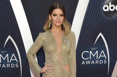 This Nov. 14, 2018 file photo shows singer Maren Morris at the 52nd annual CMA Awards in Nashville, Tenn. (Evan Agostini/Invision/AP, File)