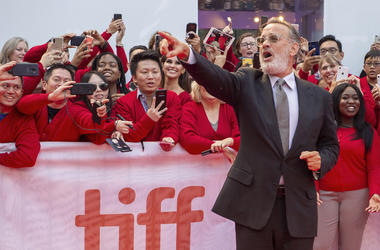 """Actor Tom Hanks arrives for the Gala Premiere of the film """"A Beautiful Day In The Neighborhood"""" at the 2019 Toronto International Film Festival on Saturday, Sept. 7, 2019. (Frank Gunn/The Canadian Press via AP)"""