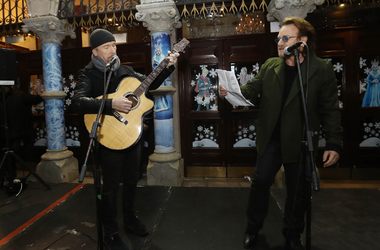 U2's Bono and The Edge (Photo credit: Radio.com)
