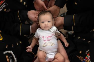U.S. Army Specialist Chris Harris' little baby girl
