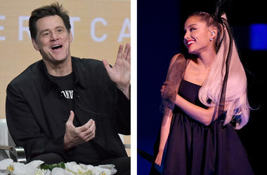 Jim Carrey and Ariana Grande (Photo credit: Kevin Winter/Getty Images/Richard Shotwell/Invision/AP)
