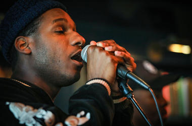 Leon Bridges in the Alice Lounge