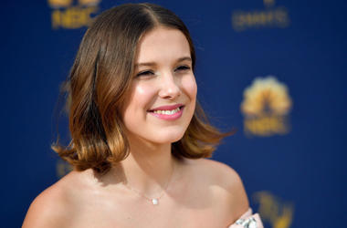 Millie Bobby Brown attends the 70th Emmy Awards at Microsoft Theater on September 17, 2018 in Los Angeles, California