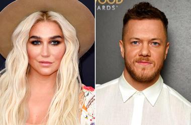 Kesha, left, and Dan Reynolds of Imagine Dragons