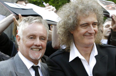 Members of the rock band Queen, Roger Taylor and Brian May