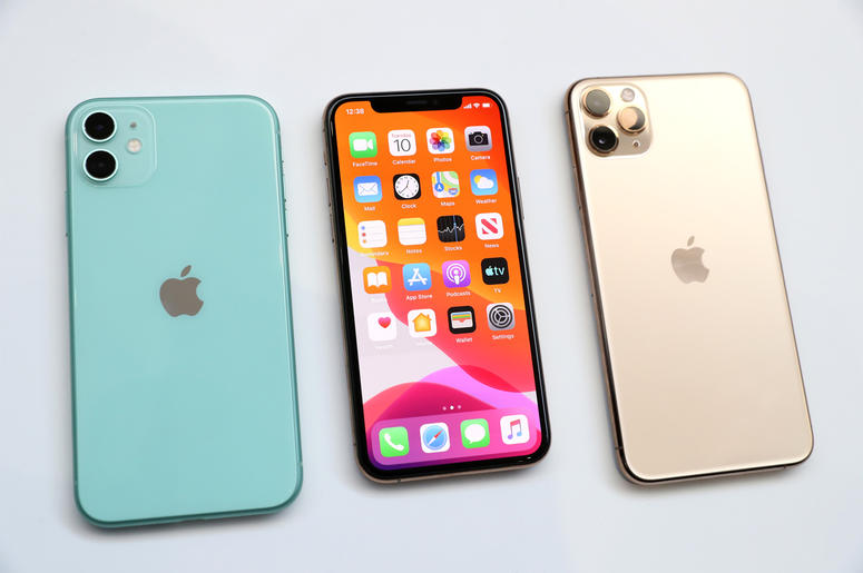CUPERTINO, CALIFORNIA - SEPTEMBER 10: The new Apple iPhone 11 (L) and iPhone 11 Pro (R) are displayed during an Apple special event on September 10, 2019 in Cupertino, California. Apple unveiled several new products including an iPhone 11, iPhone 11 Pro,