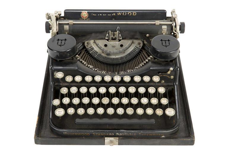The typewriter Hugh Hefner used in college