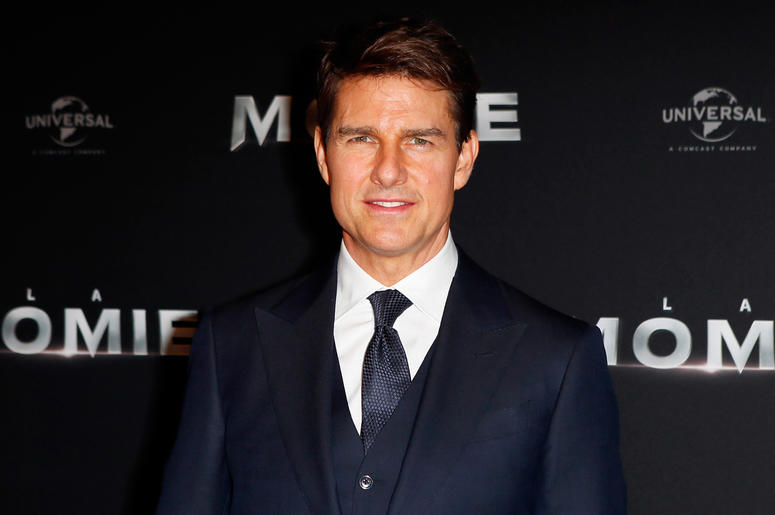 "In this Tuesday, May 30, 2017, file photo, Tom Cruise poses during a photocall for the French premiere of ""The Mummy"" in Paris, France. Cruise is back on the flight line for a sequel to the 1986 film ""Top Gun."" The actor on Thursday, May 31, 2018, tweeted"