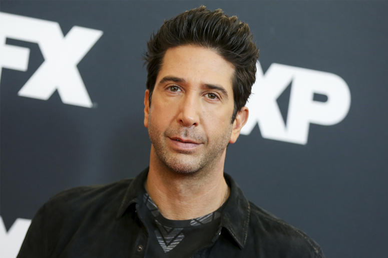 "In this Jan. 16, 2016 file photo, David Schwimmer arrives at the 2016 FX Winter TCA in Pasadena, Calif. NBC announced that Schwimmer will have a recurring role on ""Will & Grace"" as Grace's new love interest. The program returns for a second season on Oct."
