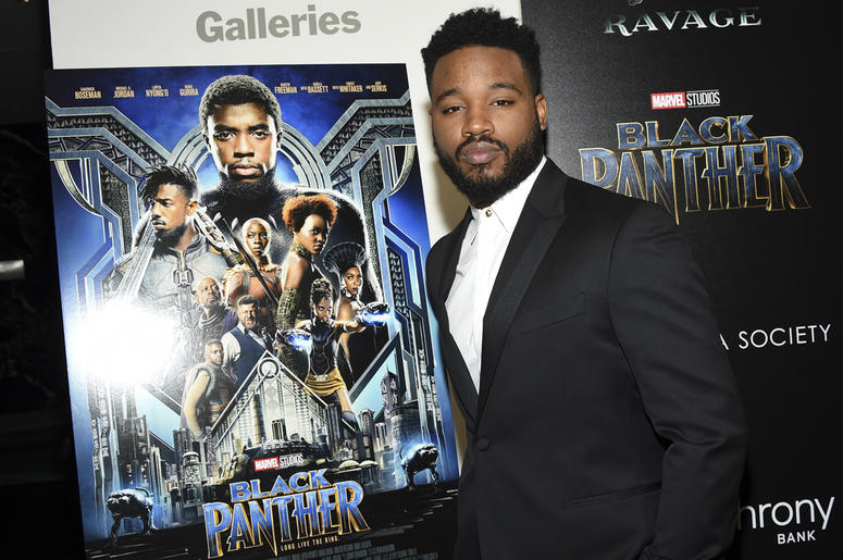 """In this Feb. 13, 2018 file photo, director Ryan Coogler attends a special screening of """"Black Panther"""" in New York. Coogler will write and direct the sequel to """"Black Panther."""" Neither a start date nor a release date has yet been announced. (Photo by Evan"""