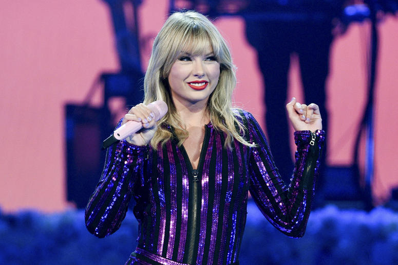 Singer Taylor Swift performs at Amazon Music's Prime Day concert at the Hammerstein Ballroom on Wednesday, July 10, 2019, in New York. (Photo by Evan Agostini/Invision/AP)