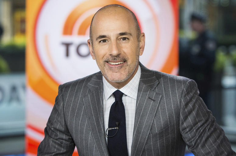 "This Nov. 8, 2017 photo released by NBC shows Matt Lauer on the set of the ""Today"" show in New York. (Nathan Congleton/NBC via AP)"