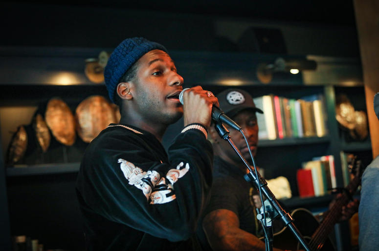 Leon Bridges in the Alice Lounge