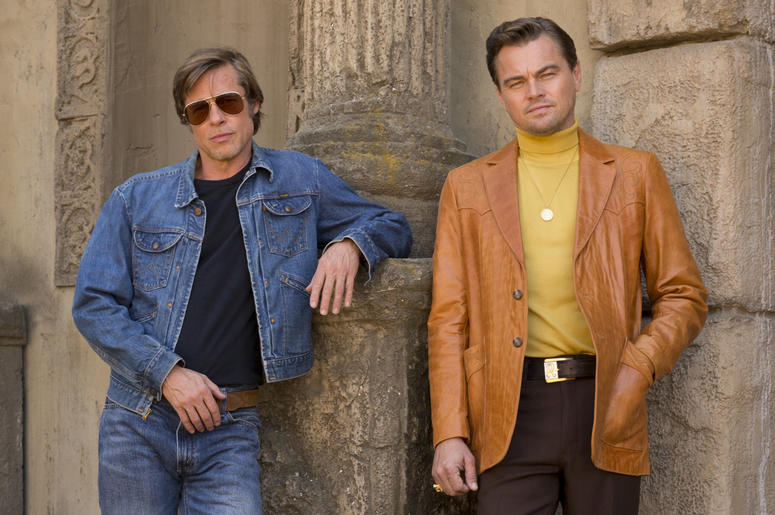 """Brad Pitt and Leonardo DiCaprio star in Columbia Pictures """"Once Upon a Time in Hollywood"""" (Photo credit: ANDREW COOPER; © 2018 CTMG, Inc. All Rights Reserved)"""