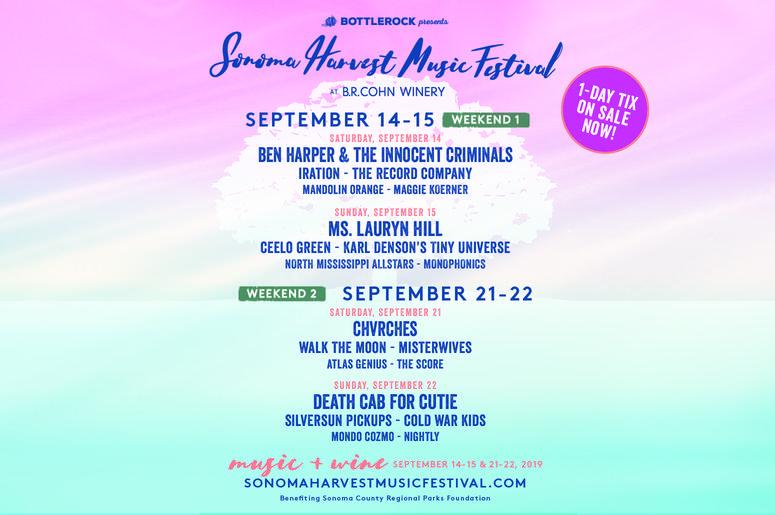 BottleRock Presents The Sonoma Harvest Music Festival