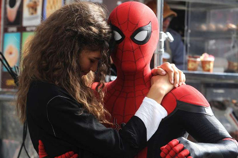 """Zendaya as MJ and Tom Holland as 'Spider-man' in """"Spider-man: Far From Home"""" (Photo credit: Sony Pictures)"""