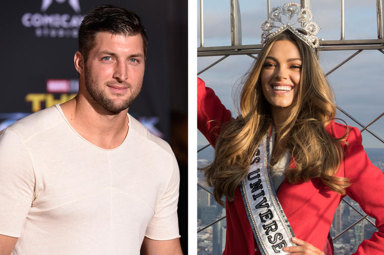 Tim Tebow & Demi-Leigh Nel-Peters (Photo credit: Chris Pizzello/Invision/Mary Altaffer/AP File)
