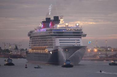 Disney Dream on her maiden voyage