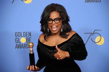 Oprah Winfrey At Golden Globes