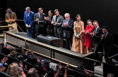 WASHINGTON, DC - JULY 22: (L-R) Producer Jake Myers, Director Christopher McQuarrie, Frederick Schmidt, Angela Bassett, Henry Cavill, Wolf Blizter, Michelle Monaghan, Rebecca Ferguson, Simon Pegg and Tom Cruise attend the 'Mission: Impossible - Fallout' U