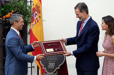 Spain's King Felipe VI and Queen Letizia - AP Photo
