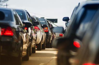 Traffic Jam, Narrow Street, Cars