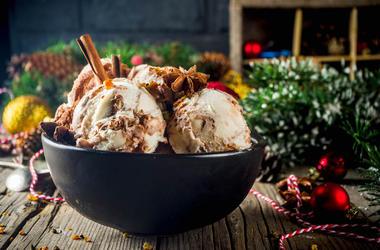 Christmas, Ice Cream, Bowl, Cinnamon, Holidays