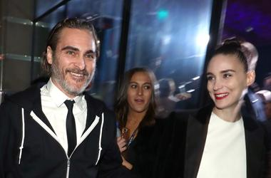 LOS ANGELES, CA - JANUARY 05: Joaquin Phoenix (L) and Rooney Mara attend Michael Muller's HEAVEN, presented by The Art of Elysium, on January 5, 2019 in Los Angeles, California.