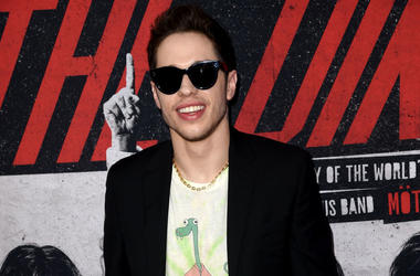 Comedian Pete Davidson on the red carpet for Netflix premiere of The Dirt