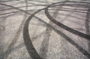 Street, Tire Marks, Donuts, Skid Marks, Road