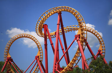 Looping Roller Coaster, Amusement Park, Theme Park