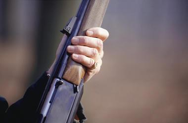 Shotgun, Holding, Mid-Section, Hand
