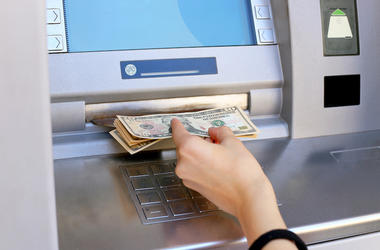 ATM, Cash, Money, Woman, Hand